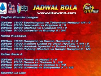 Jadwal Taruhan Bola 20-21 September 2020