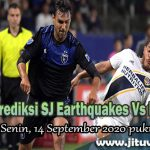 Prediksi SJ Earthquakes Vs LA Galaxy 14 September 2020